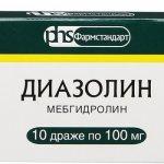 Упаковка препарата Диазолин
